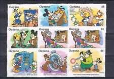 Serie Disney postfris MNH Guyana: Mickey Donald Goofy (dis079)