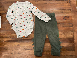 Carters Baby Boy 2 Piece Dinosaur Outfit - Size 24M