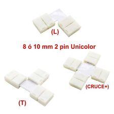 CONECTORES 2 pin  L, T, + CRUCE - PARA TIRAS LED UNICOLOR - CONECTOR LED