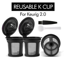 BRBHOM 2PCS Refillable Reusable K-Cups Filter Pod for Keurig 2.0 Coffee Makers