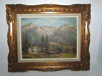 Signed Vintage Oil Painting on Wood Panel 744