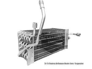 71 72 73 74 De Tomaso Pantera Detomaso Evaporator Heater Core rows ECHC10