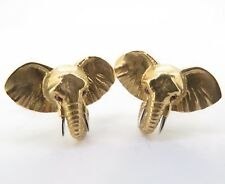 18K Gold & Ruby Gentleman's Elephant Cufflinks .A Fine Pair Of E. Wolfe & Co