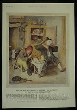 Cornelis Dusart Water Colour 1687 Dutch Kitchen Ice Box 1932 Page Print Article