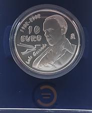 2002 España 10 Euros Plata Centenario Nacimiento Luis Cernuda Proof Euro Coin