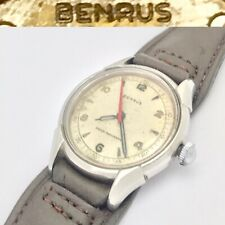 antique 1940s Benrus Shock Absorber BH12 mens mechanical wristwatch Military