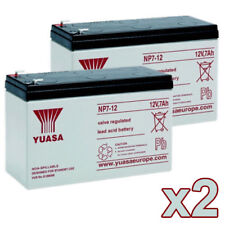 2 x NP7-12 12v 7Ah 20HR GENUINE Yuasa Lead Acid Rechargeable Battery NP6-12