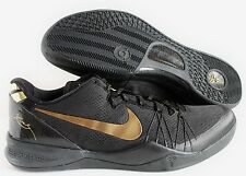 NIKE KOBE 8 VIII SYSTEM ELITE+ BLACK-METALLIC GOLD SZ 12 [603269-100]
