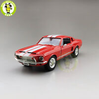 1/18 1968 Ford Shelby Mustang GT-500KR Red Road Signature Diecast Model Car Toys