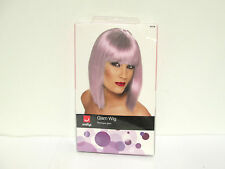 Smiffys Glam Wig - Lilac - Short Blunt w/ Fringe Bangs - 42136 [HB-A-S]