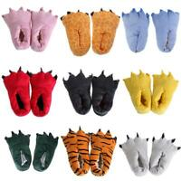 Unisex Adult Cosplay Plush Slipper Monster Animal Paw Warm Indoor Slippers Shoes