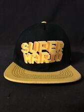 Nintendo Super Mario Bros Black And Neon Retro Adult Snapback Hat Cap