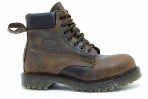 Solovair Made in England 7 Eye Atztec Padded Collar Steel Boot Ben S115-CS71700A