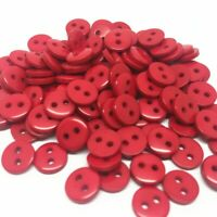 lot de 50 bouton scrapbooking 2 trou rouge mercerie couture 9 mm couture