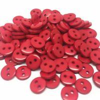 lot de 50 bouton scrapbooking 2 trou rouge mercerie couture 9 mm couture
