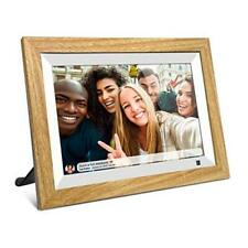 FRAMEO WiFi Digital Picture Frame 10.1 Inch IPS HD Touch 10.1 inch WiFi Wood