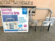 New Bathtub Security Safety Grip BATHCARE Model 100 Metal Made USA!