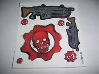 Gears of War 5 - Stickers / Decals Gears Omen Logo & Chainsaw and Lancer Weapon