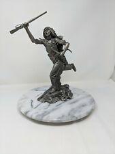 Cheyenne Brave by Jim Ponter, Fine Pewter statue, the Franklin Mint