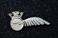 British Airways Crew BA HALF WING Pin Insignia silver Badge 50mm replica metal