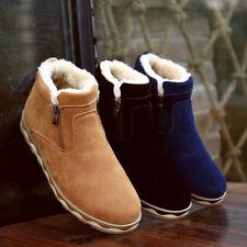 New Winter Men's Snow Boots Fur Thicken  Warm Cotton Zipper Shoes Outdoor  Hot