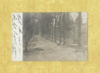 CT Terryville rare 1907 RPPC real photo postcard Conn Two men working on street