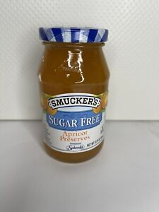 NEW Smuckers Sugar Free Apricot Preserves Sweetened with Splenda exp: 9/8/22