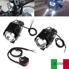 2pz 15W U5 LED Faretti Frontali Fendinebbia da Moto con Interruttore Universale