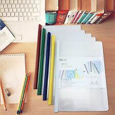 5Pcs A4 Size Office Rod Pumping Folder Plastic Storage Documents Paper Clips