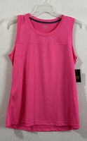 Athletic Works womens tank top size M pink heathered yoke moisture wicking new