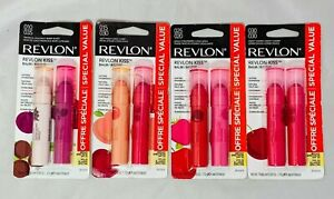 Revlon Kiss Lip Balm Twin 2 Pack Choose Your Shade You Pick! New Expired