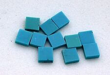TWO 4mm Square Natural Turquoise Cab Cabochon Gem Stone Gemstone ebs6867