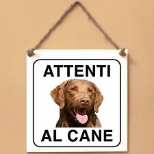 Chesapeake Bay Retriever 2 Attenti al cane Targa cane cartello