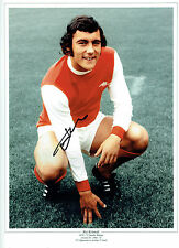 Ray KENNEDY Signed Autograph 16x12 Arsenal Photo AFTAL COA