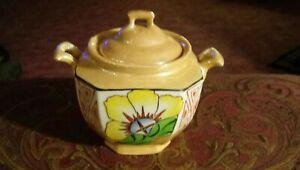 Vintage Japanese Lusterware Sugar Jar
