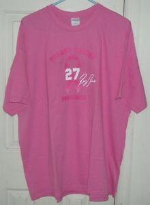 Breast Cancer Awareness T-Shirt Ray Rice #27 Baltimore Ravens 2XL & 3XL Shirts