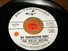 THE WILLIS SISTERS - MY PREPOSITION BABY - WHY  / LISTEN - GIRL GROUP POPCORN