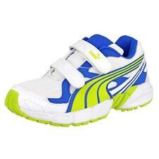 RRP - £40 Puma Axis Mesh Trainers Kids Girls Boys Blue and Yellow - BNIB UK 10