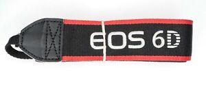 #1 Canon Genuine EOS 6D EW-EOS6D Black / Red / White Camera Neck Strap