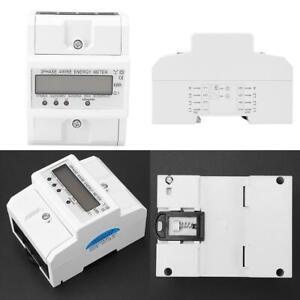 Digitales LCD 3x20(80A)Dreiphasen-Vierdraht-Schiene Elektronischer Energiezähler