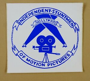Independent Stuntmen of Motion Pictures - Hollywood, CA - Vintage Decal