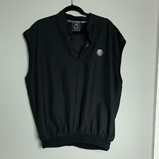 Shuttle Meadow Mens Black Microfiber Golf Vest Size XL Sunderland of Scotland