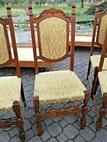 Sedia in legno ANTICA imbottita poltrona poltroncine VINTAGE cucina floreale 1pz