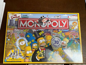 Monopoly The Simpsons Board Game Special Edition - Collectible Tokens - Complete