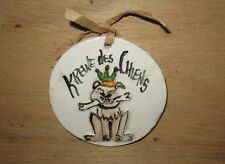 Krewe of Chiens Louisiana Mardi Gras Party Favor Ceramic Ornament