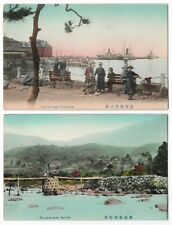 JAPAN old postcard, hand tinted, different landscapes 12 unused cards - c30