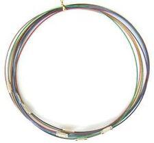 10 Bracelets Support 62mm en Acier gaîné avec fermoir à vis Couleurs Mixtes