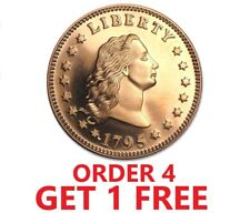 1 Ounce .999 Fine Copper Round - Flowing Hair Dollar