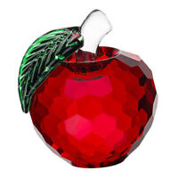 Red Crystal Apple Paperweight Artificial Apple Figurine Wedding Decor