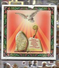 "Gifts of the Holy Spirit wall or Shelf art ceramic 4"" x 4"" tile from Italy"